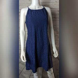 J McLaughlin Blue Chain Marie Halter Dress